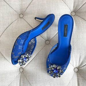 Dolce & Gabbana royal blue mules